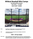 BASEBALL MINI CAMPS SCHEDULE