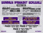FOOTBALL SUMMER WORKOUT SCHEDULE