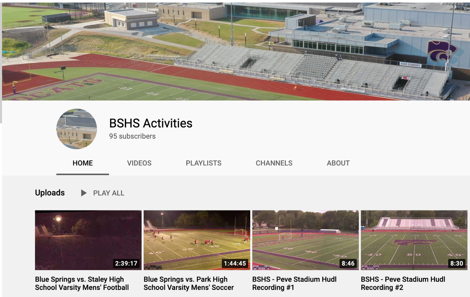 CHECKOUT THE BSHS ACTIVITIES YOUTUBE ACCOUNT