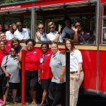 Glenville Teachers Tour on Lolly the Trolley