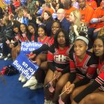Glenville Cheerleaders Welcome Hillary Clinton to Cleveland