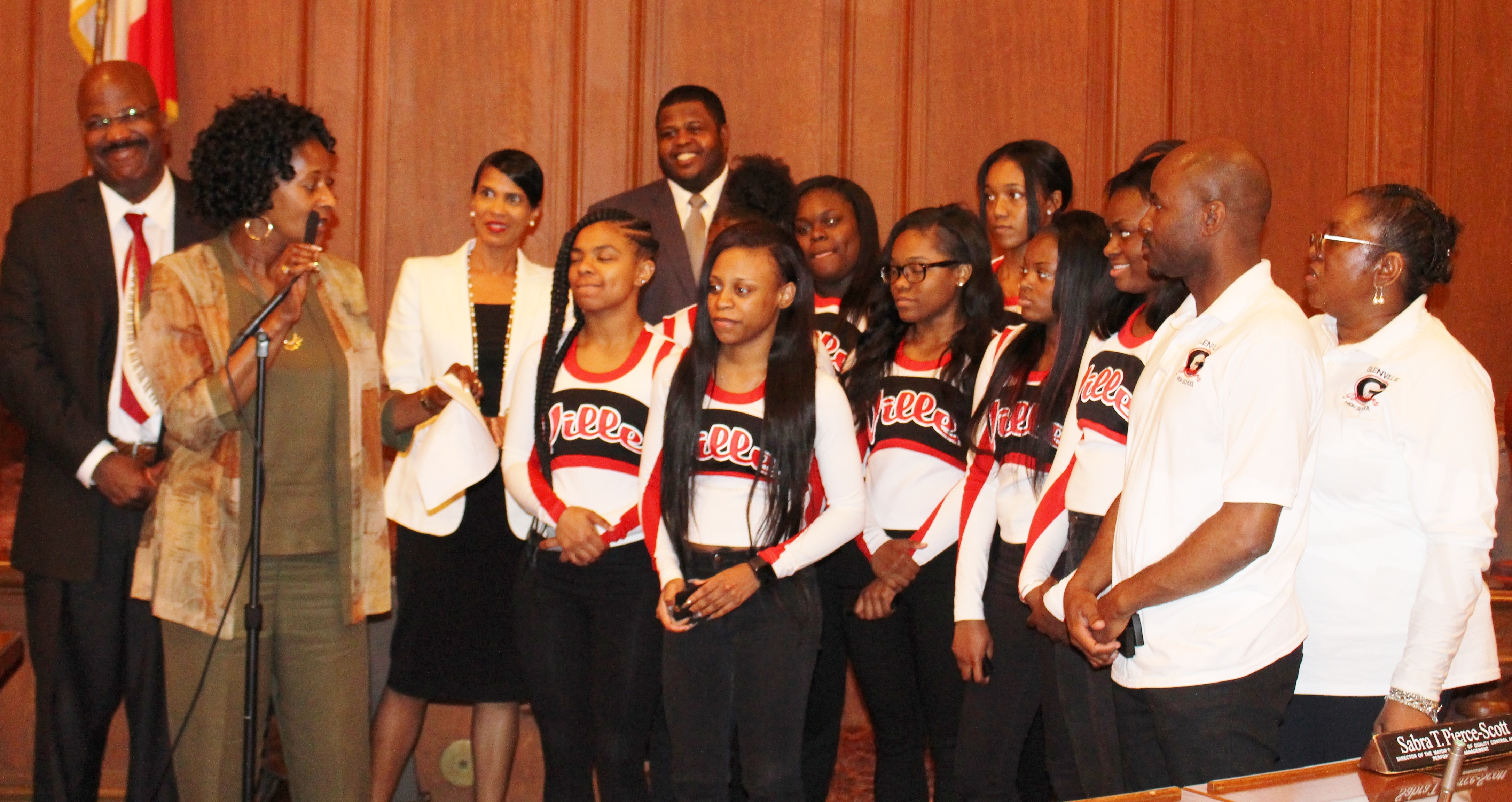 Glenville Cheerleaders Are Honored By City Council and Celebrate