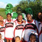 "Cheerleaders At FOX 8 ""Stuff The Bus"""