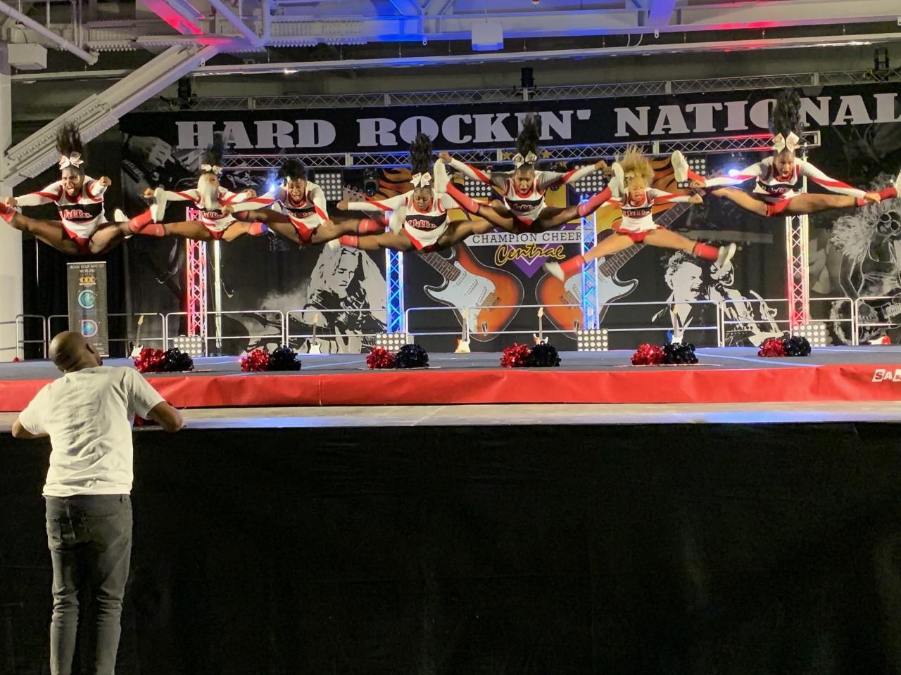 Cheerleaders Compete In Nationals