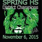 SPRING Mighty Lions WIN DISTRICT