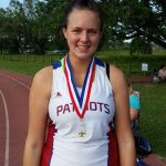 Girls track team nipped in district track meet