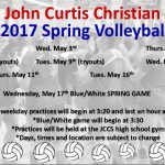 Spring volleyball practice dates announced!