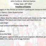 Tonight's timeline of events vs. Warren Easton