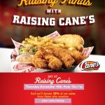 Raising funds with Raising Cane's!!