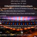 STATE CHAMPIONSHIP Timeline of Events!!