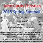 Spring football dates set