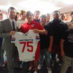 Preston Guedry awarded Coach Rob's #75 today!