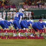 Live Stream vs. Warren Easton THURSDAY…6:45PM!!