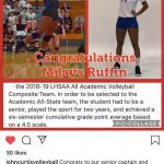 Senior Milaya Ruffin named Composite Academic All-State!