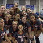 Lady Patriot volleyball quarter-finals vs. #2 Notre Dame today at 10:50 AM!