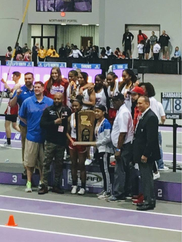 STATE CHAMPIONS!! Girls 2018-19 Division I indoor track and field CHAMPIONS!!