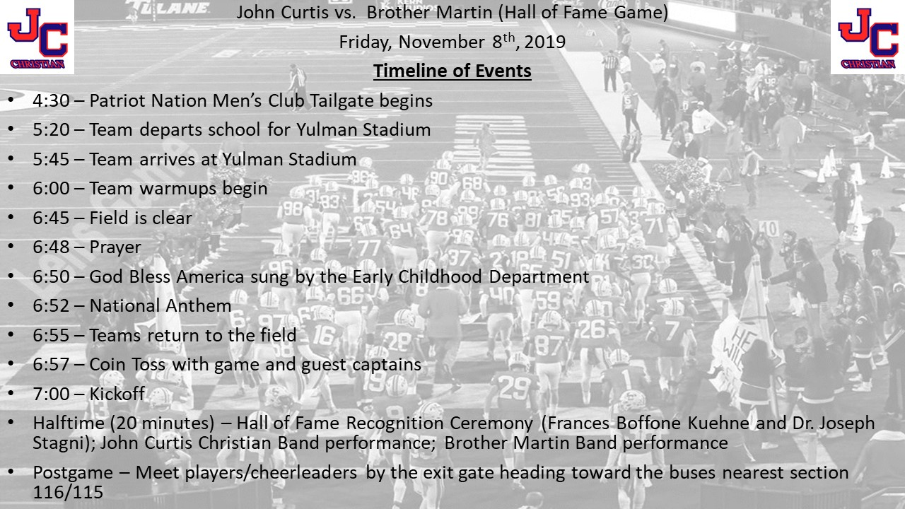 Where and When to be for tonight's football game vs. Brother Martin