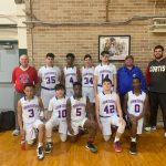 8th grade basketball team finishes as league champs; impressive record!