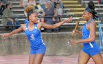 Girls track team run, throw, jump away with Hecker Invitational!