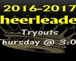 Cheerleader  Tryouts Thursday