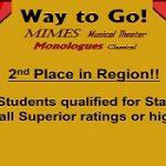 RHS Drama 2nd Place in Region!