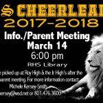 2017-18 Cheerleader Parent Meeting