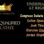 Debate Team is Region Champions