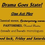Good luck at State, Drama!