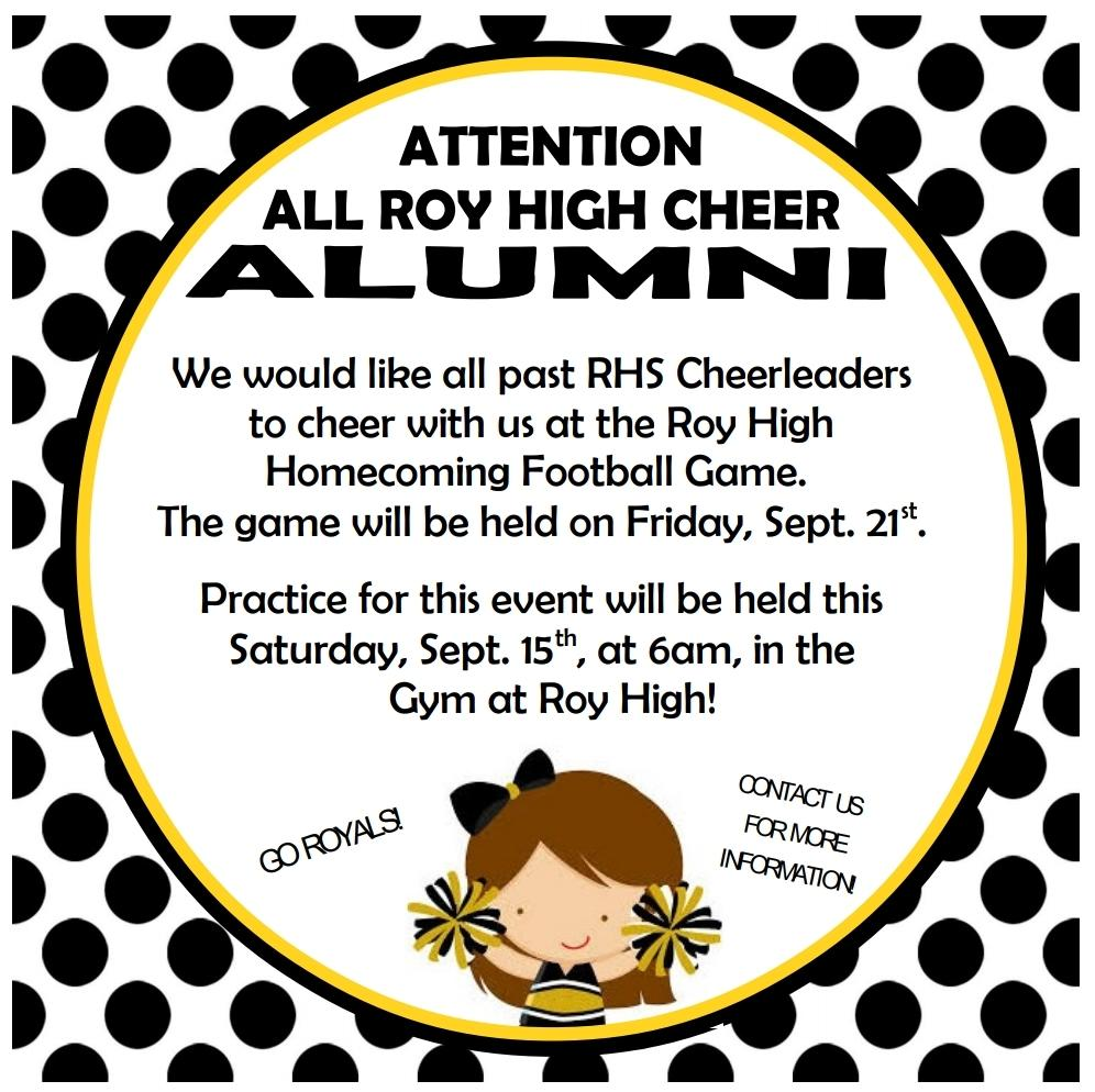 Attention Cheer Alumni!