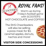 Scooter's hot chocolate and coffee at Friday's football game!
