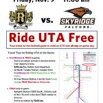 Ride UTA Free on Gameday