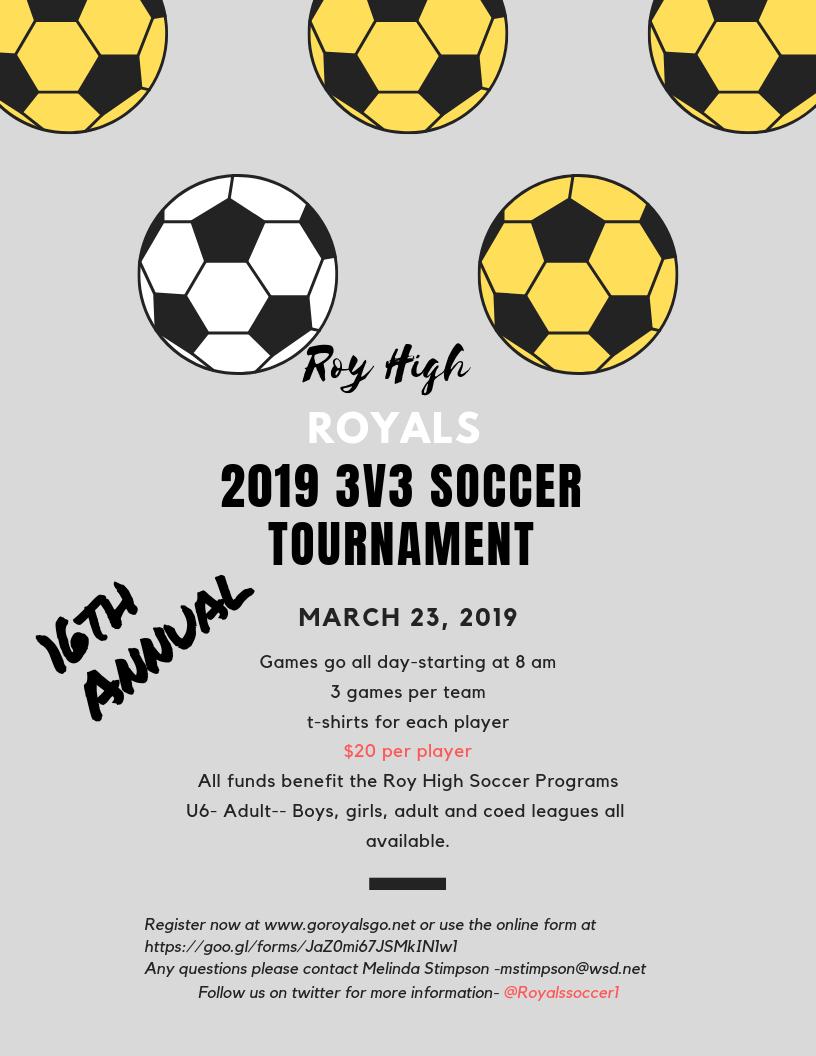 2019  Royals 3 vs 3 Soccer Tournament