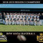 2018-2019 Baseball Region 5 Champions!