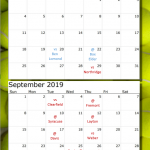 2019-2020 Girls Tennis Schedule