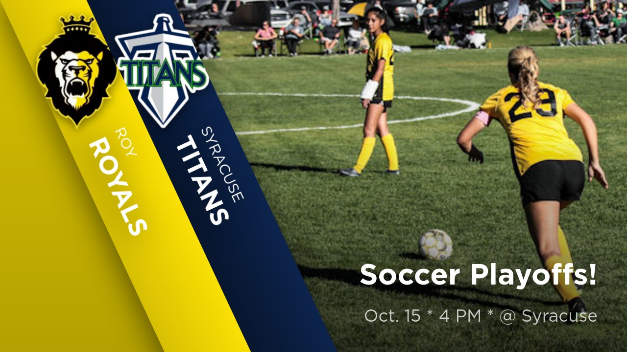 Girls Soccer Playoffs! Oct. 15 * 4 PM * @ Syracuse