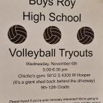 Boys Roy High School Volleyball Tryouts