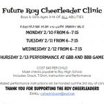 Future Roy Cheerleader Clinic