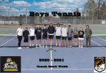 2020-2021 Boys Tennis Team