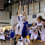 Skyline High School Girls Varsity Basketball falls to Bonneville High School 71-74