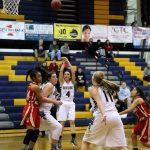 Skyline High School Girls Varsity Basketball falls to Judge Memorial Catholic H S 59-69