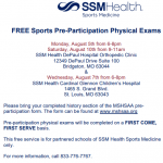 FREE Sports Pre-Participation Physical Exams – FINAL REMINDER