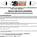Fall Cheer Clinic – STARTS THIS WEEK – 9/17-9/19/19