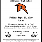 Football – Elementary Night – 9/20/19 – REMINDER