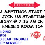 Club Meeting – FCCLA Thursdays at 7:15am in Room 114 – 2019/20