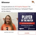 Girls Varsity Volleyball beats Brentwood 2 – 0