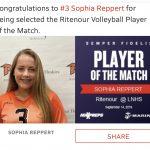Girls Varsity Volleyball beats Lutheran North 2 – 0