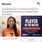 Girls Varsity Volleyball beats Bishop DuBourg 2 – 0