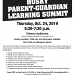 RHS – Parent/Guardian Learning Summit – 10/24/19 – REMINDER