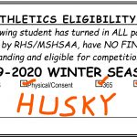 Winter Sports Eligibility Cards – AVAILABLE DURING LUNCH – TODAY Wednesday 10/30 – Monday 11/4/19