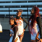 Cheerleading at C-Team Football vs. Hazelwood Central - 10/14/19 - Photos by Laskowski